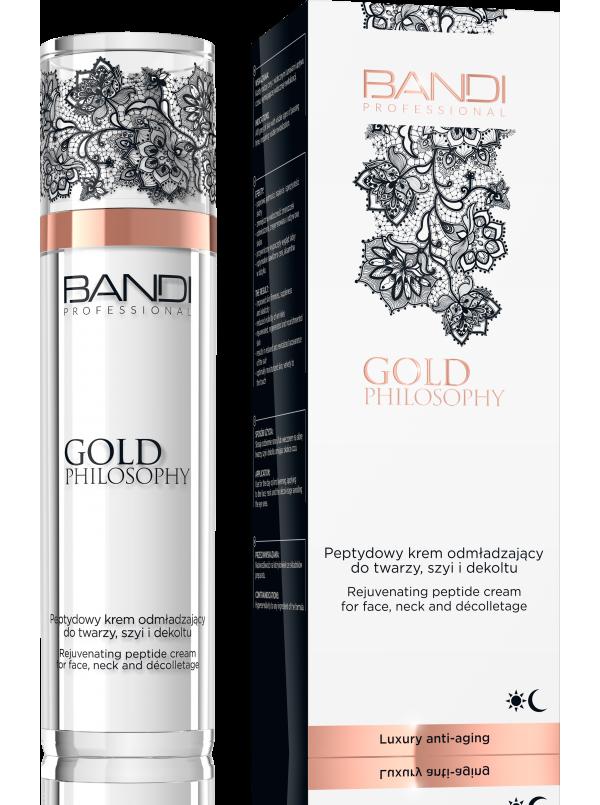 Peptydowy krem odmładzający do twarzy, szyi i dekoltu GOLD PHILOSOPHY BANDI